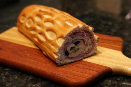Pan de Jamón con aceitunas deshidratadas