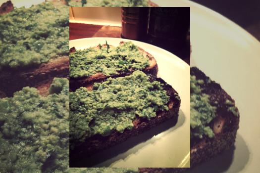 Tapenade de aceitunas verdes deshidratadas