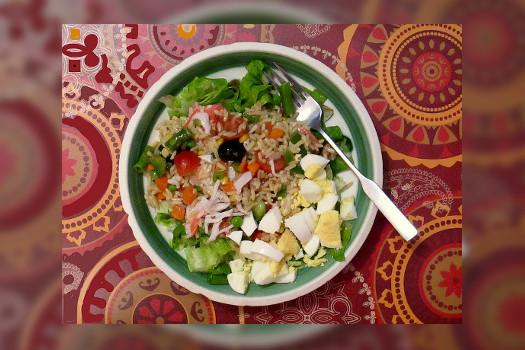 Ensalada de arroz con verduras