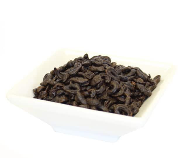 Aceitunas negras en rodajas deshidratadas
