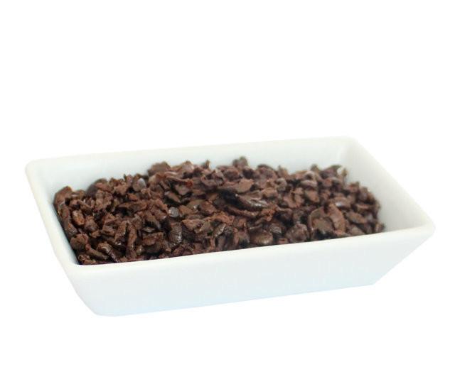 Aceitunas negras en trozos parcialmente deshidratadas